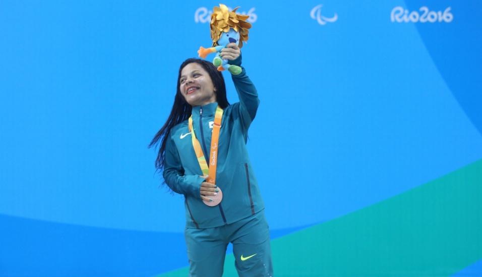 17.set.2016 - Joana Maria Silva ganhou o bronze na prova dos 100 metros livre - S5. A nadadora já tinha uma prata, conquistada nos 50 m livre
