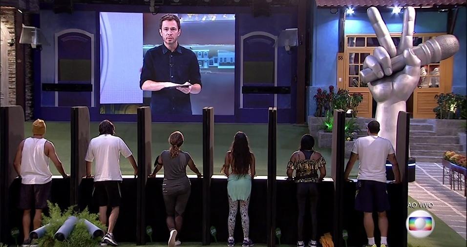 """16.fev.2017 - Os brothers devem assistir a audições do """"The Voice Kids"""" e dizer se a criança foi aprovado pelos jurados ou não"""