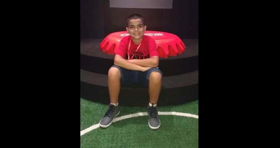 Ana Lucia enviou a foto do filho Douglas de 11 anos, do Rio de Janeiro (RJ)