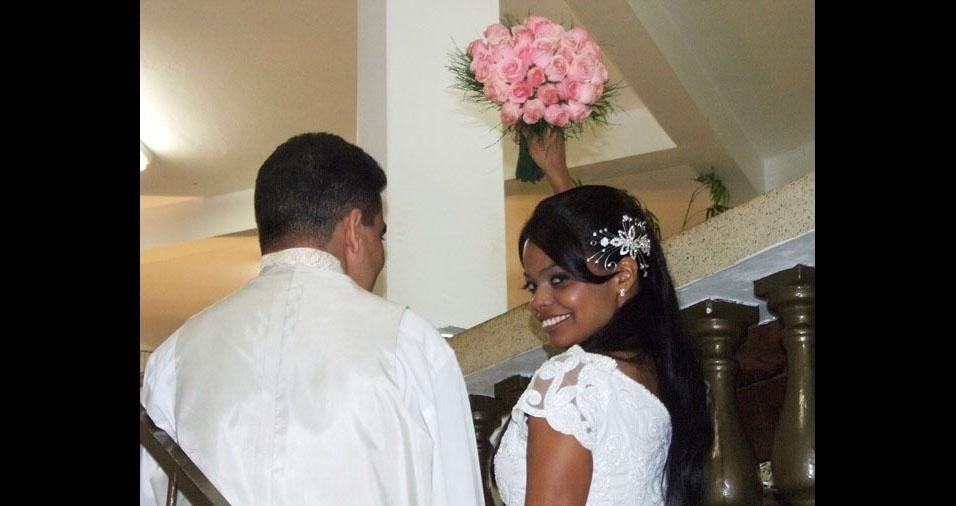 Risselma e Gilmar S. Oliveira se casaram em Fevereiro de 2011