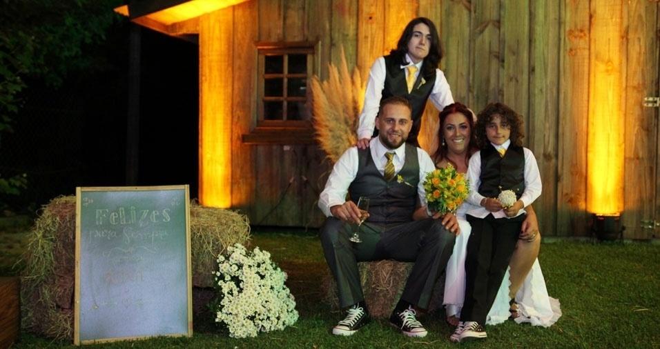 Os pais Malu e Leandro enviaram foto com os filhos Pedro e Lucas, de Caixias do Sul (RS)
