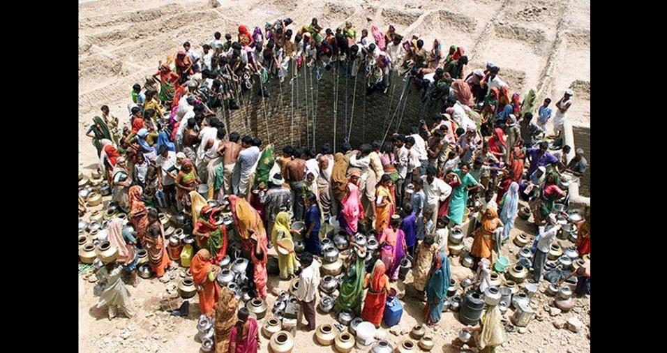 6. O grande poço em Natwarghad, na India