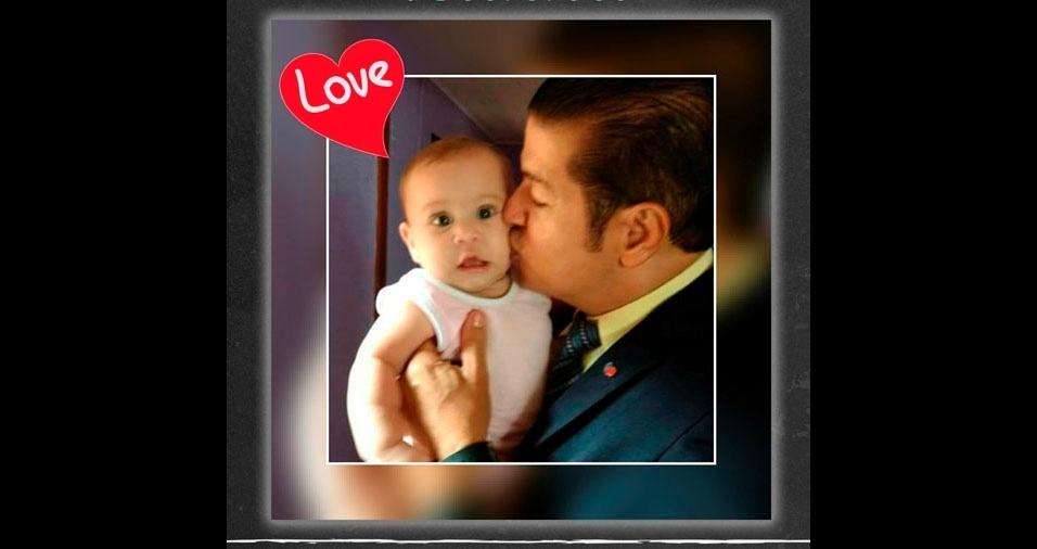 Papai Paulo e sua filha Cris, de Macapá (SP)
