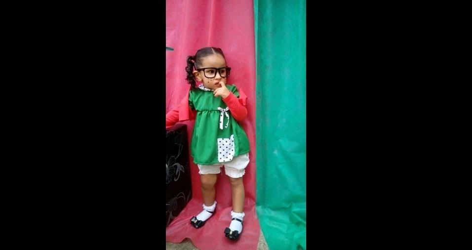 Heloísa, de dois anos, é a filha da Luana  Andrade, de Macapá (AP)