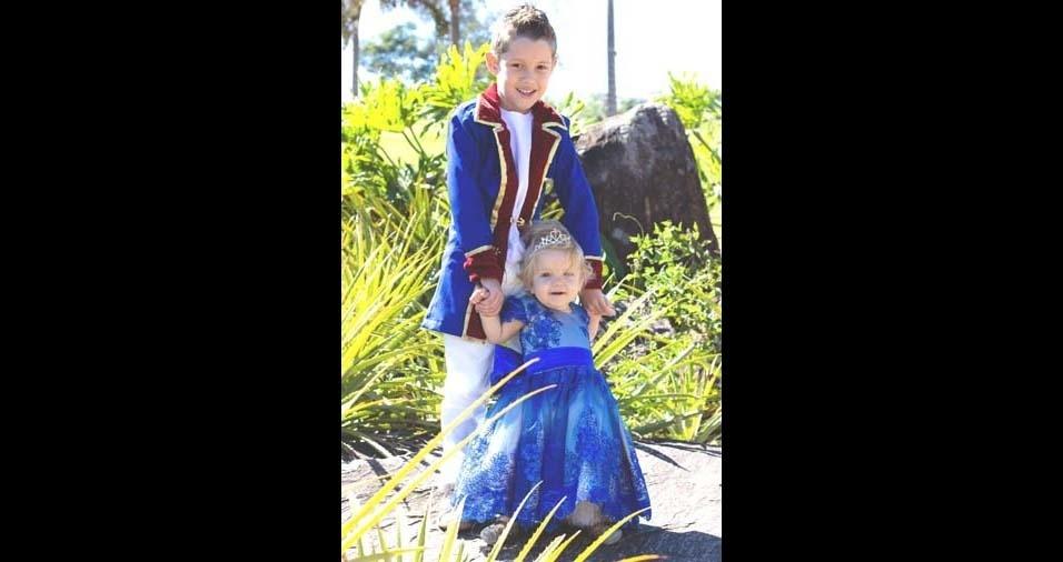 Leidiane enviou a foto dos filhos Lucas e Helena, de Hortolândia (SP)