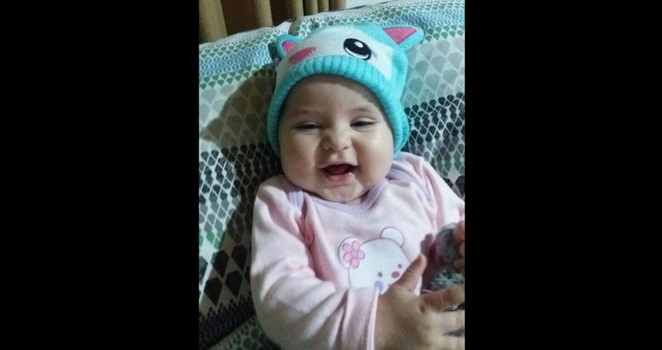 Cesar, de Guaratinguetá (SP), enviou foto da filha Helena