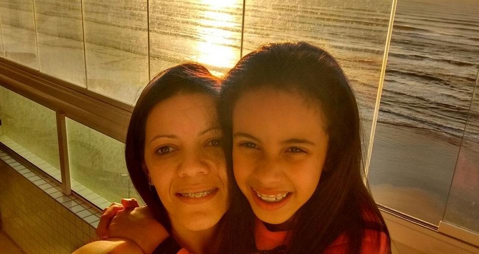 """Mariane dos Santos da Silva com a mãe Daniela Almeida dos Santos, de São Paulo (SP): """"Amor maior"""""""