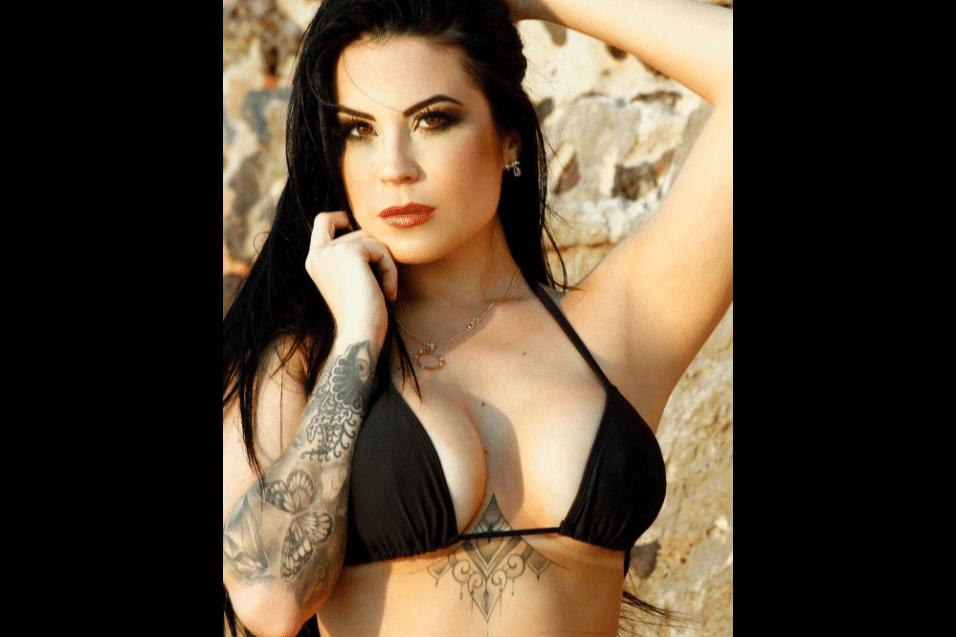 """28.jul.2017 - Jéssica Amaral foi capa da edição de fevereiro de 2012 da """"Playboy"""". Depois, a modelo participou do Miss Bumbum 2013 e de alguns quadros no canal Multishow"""