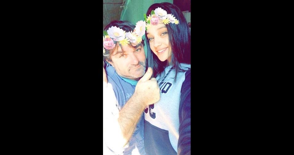 Thalia Tavares Engel e o papai José Carlos Engel, de Pelotas (RS)