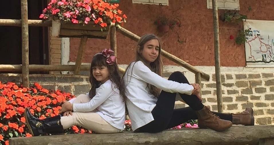 Anderson Margon, de São Roque do Canaã (RS), enviou foto dos filhos Laura e Júlia