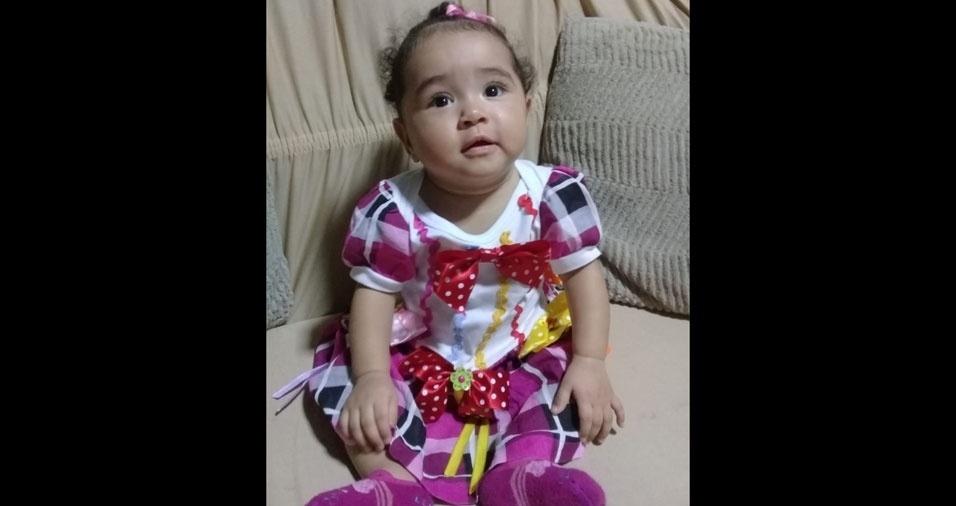 Ilka Vanessa Ubaiara Brito Macedo enviou foto da filha Selena, nove meses. Elas moram em Macapá (AP)