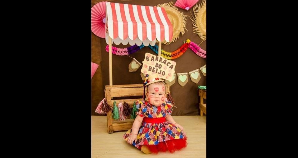Cristiane S. de Sousa enviou foto da filha Maria Clara, de Novo Repartimento (PA)