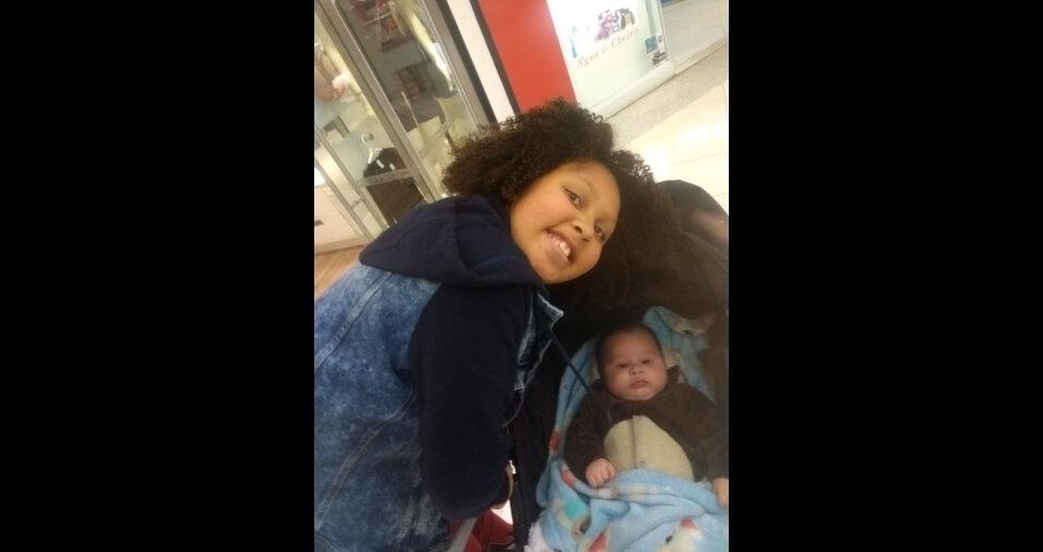 Estes são a Nadiny, de 10 anos, e o Killian Xavier, de quatro meses, filhos do Rogério da Jacqueline, de São Paulo (SP)