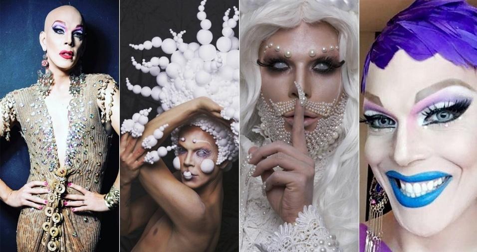 """2. Ikaro Kadoshi - A diva foi a única brasileira a ser entrevistada pela """"Billboard"""" em matéria que reuniu, no final de junho, 34 drag queens fora do circuito do programa """"RuPaul's Drag Race"""" (""""RuPaul e a Corrida das Loucas"""", em português), cuja influência sobre a arte drag é inegável, para falar a respeito da cena gay em seu próprio país. Há 17 anos fazendo drag, Ikaro é referência com seu estilo e personalidade"""