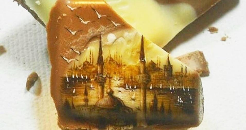 33. O artista turco não resiste mesmo a um pedacinho de chocolate