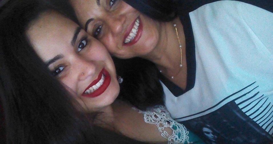 Sandra Lira com a filha Sandriene, de Guarulhos (SP)