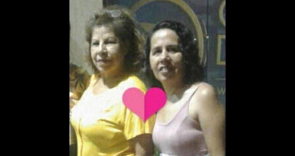 Regiane com a mãe Nair, de Jundiaí (SP)