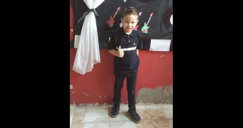 Marcia Ivete, de Mauá (SP), enviou foto do filho Matheus, de seis anos