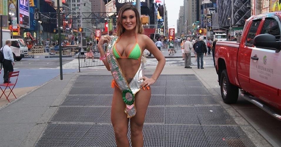 Andressa Urach na Times Square