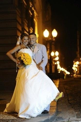 José João Pereira e Railda Souza Ramos casaram em Santos (SP) no dia 18 de fevereiro de 2012.