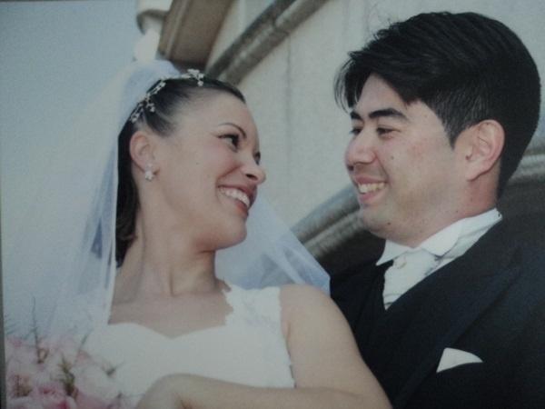 """""""São anos de muita cumplicidade, respeito e amor"""", conta Dagmar, esposa de Daniel Masago. O casal oficializou a união em São José dos Campos (SP) no dia 24 de maio de 2008."""