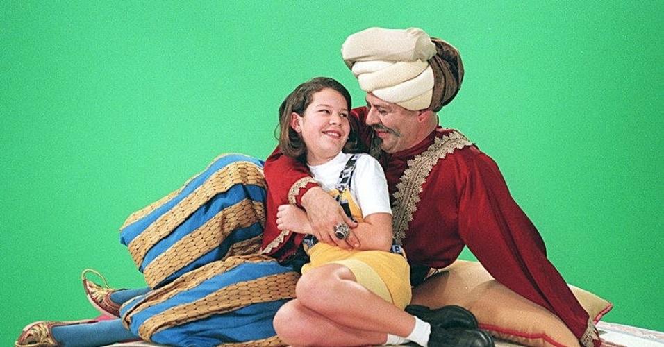 15.ago.1996 - O ator Oscar Simch, interpretando