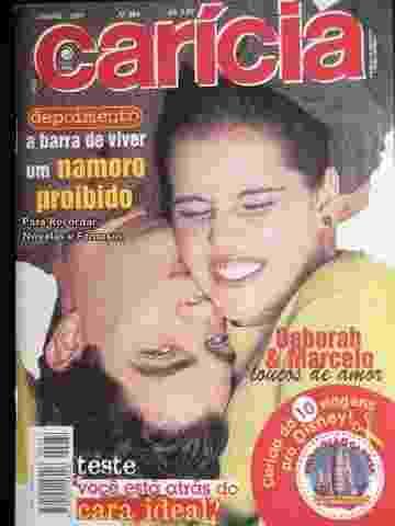 Deborah Secco namorou o então paquito Marcelo Faustini na década de 90 - Reprodução