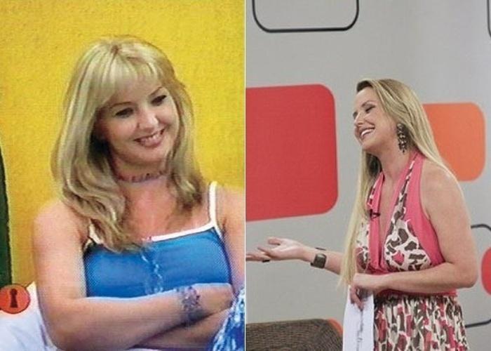 """A saída de Alessandra Scatena no """"Programa do Gugu"""" se deu em maio de 2001, quando a então assistente de palco recebeu o convite para participar do reality show """"Casa dos Artistas"""", sucesso do SBT"""
