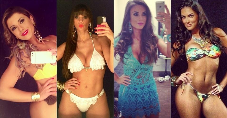 18.ago.2013 - Babi Rossi, Carol Dias, Nicole Bahls e Renata Molinaro mostram no Instagram seus respectivos figurinos para o