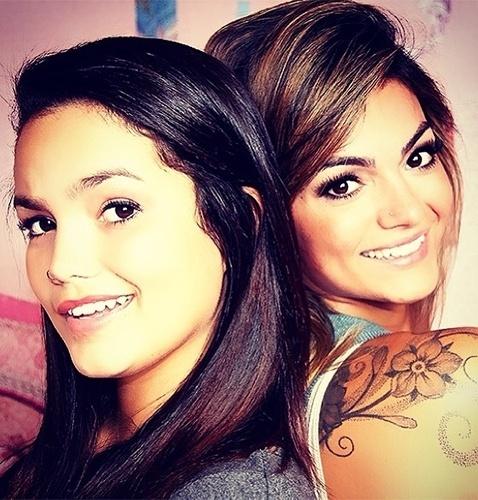 16.set.2013 - Suzanna é filha de Latino com a cantora Kelly Key. Aos 13 anos, a menina aparece cada dia mais idêntica à mãe