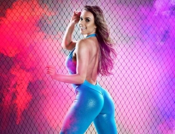 1º.nov.13 - A morena Nicole Bahls é a estrela de mais um ensaio de moda fitness, a morena mostrou que está em ótima forma física no novo catálogo da grife Oxy Fit. A modelo e repórter do