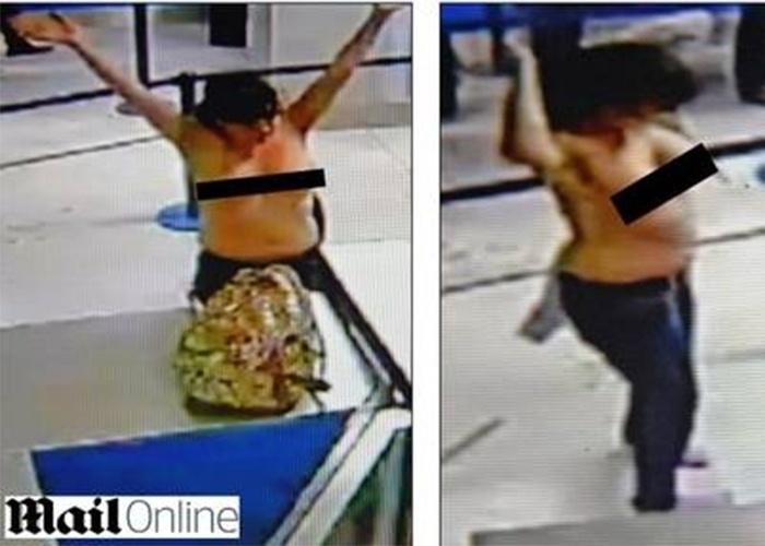 Sexta-feira (1.nov.2013) - Segundo o Daily Mail, as duas amigas que tiraram a roupa durante revista em aeroporto do Reino Unido tinham dividido uma garrafa de vinho antes de embarcar, mas negaram que estivessem bêbadas. Uma delas, Hadfield Hyde, afirmou que um segurança pediu que elas tirassem as roupas: