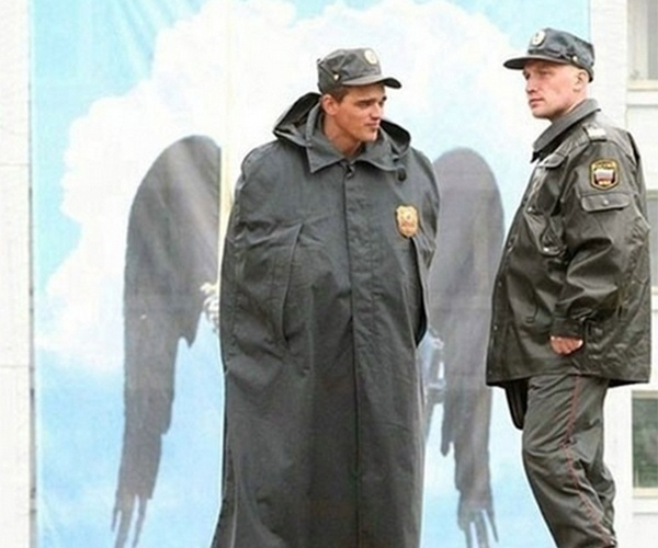 Soldado com asas de anjo