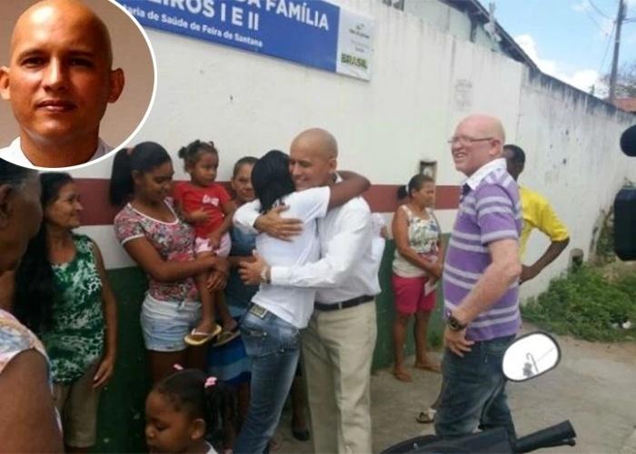 """Segunda-feira (25.nov.2013) - O médico cubano Isoel Goméz Molina retornou às suas atividades no posto de Saúde em feira de Santana, na Bahia, e foi recebido com Cartazes, músicas, orações e aplausos pelos moradores do bairro Viveiros. Molina havia sido afastado de suas funções na semana passada após suspeita de receitar uma dose excessiva de remédio a uma criança. """"Fiquei triste porque ele tinha sido afastado, mas me alegrei quando soube do seu retorno. Ele tem que ficar aqui, pois nos trata muito bem e é um profissional de qualidade"""", disse a aposentada Maria da Conceição dos Santos, uma das idealizadoras da homenagem. ?Não vou fazer nada contra ninguém, estou aqui para trabalhar e é o que vou fazer. Tudo não passou de um mal entendido, mas o importante é que estou de volta para exercer o meu trabalho que realizo há mais de anos"""", destacou o médico, que ficou emocionado com a recepção"""