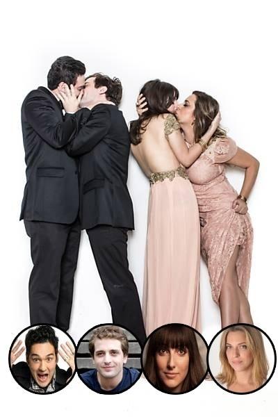 14.dez.2013 - Quatro integrantes do Porta dos Fundos deram beijos gays para um ensaio fotográfico. A sessão de fotos era para ilustrar uma reportagem da revista