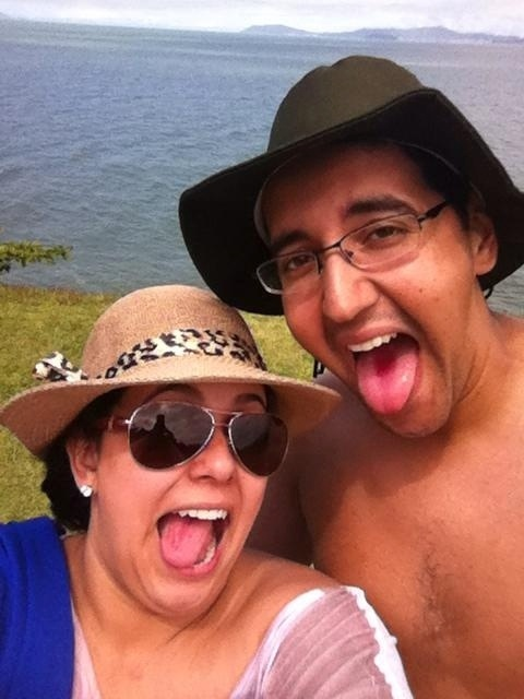 Pedro Victor da Silva e sua esposa Karina Miranda Silva, de Brusque (SC)