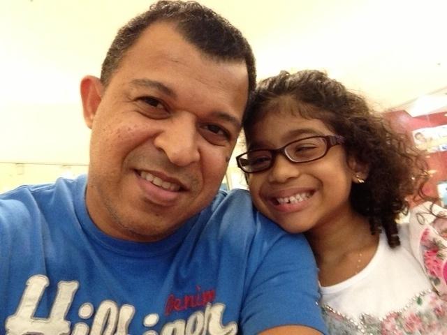 Marcio Silva e sua filha Julia Alves, de Rio de Janeiro (RJ)