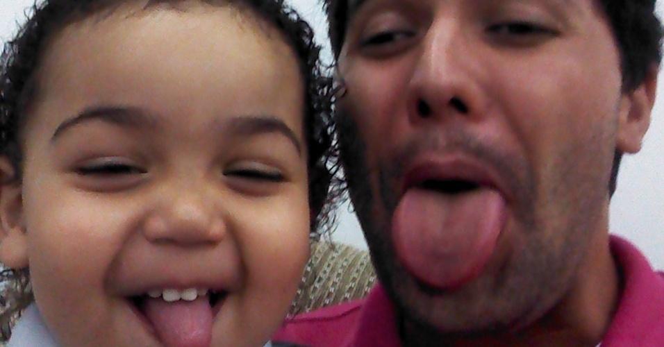 Fagner Braga e seu filho Ryan Braga, de Osasco (SP).