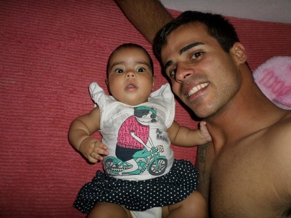 Thiago Augusto Moro, e sua Filha Yasmin Alice, de São Paulo (SP).