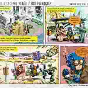Em 2013, por meio do financiamento coletivo, Fábio Yabu conseguiu ressuscitar os Combo Rangers e lançou novas histórias na mídia impressa, além do retorno dos antigos quadrinhos no site dos Combo Rangers, que estava desativado desde 2004. - Divulgação