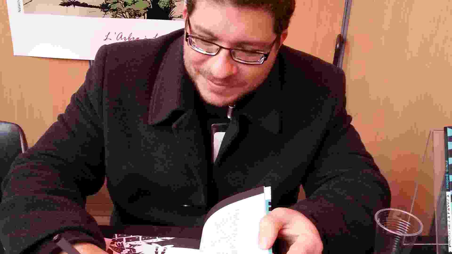 O desenhista André Diniz é o idealizador do Muzinga, site que divulga duas novas histórias em quadrinhos por semana. - Divulgação