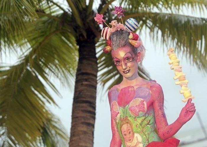 Mujer Desnuda Pintura Corporal - Compra lotes