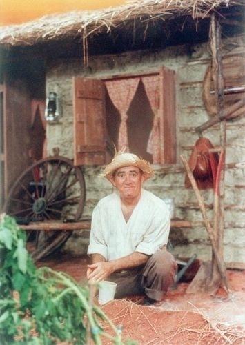 1998 - Renato Aragão (Didi) em set de gravação