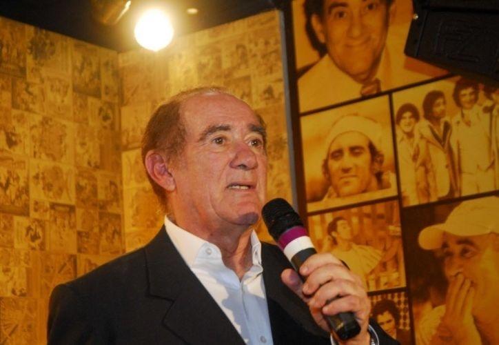 2010 - Renato Aragão participa de evento em comemoração ao seus 50 anos de carreira em hotel do Rio de Janeiro