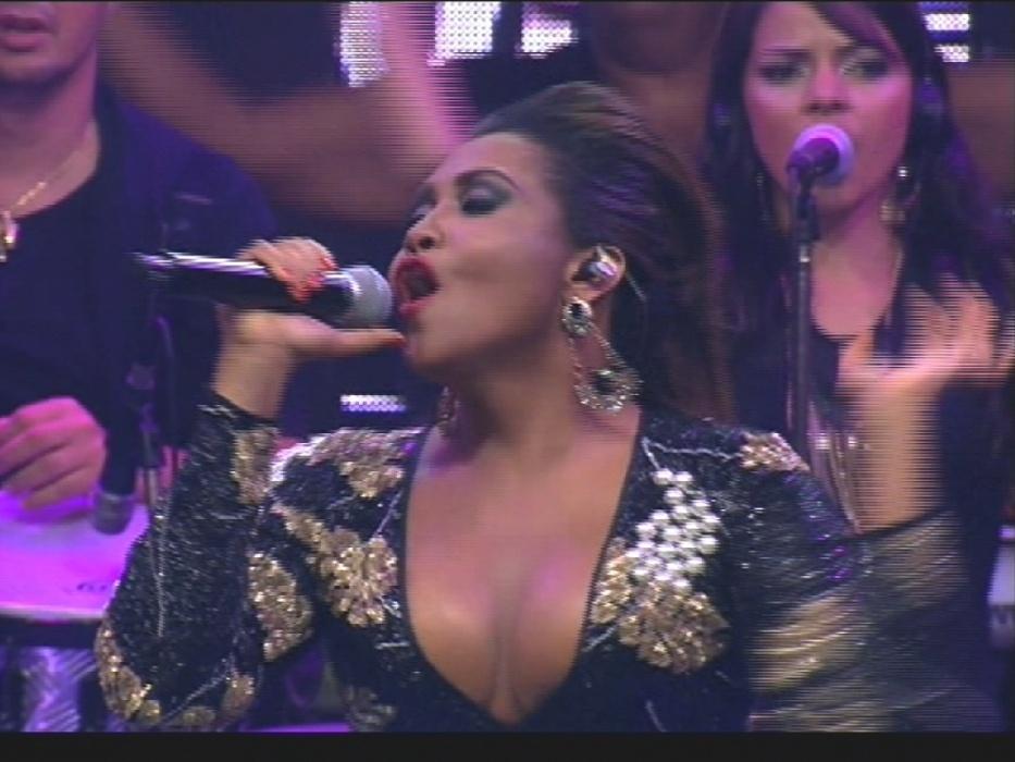 """1º.abr.2014 - Gaby Amarantos é a atração musical na final do """"BBB14"""""""