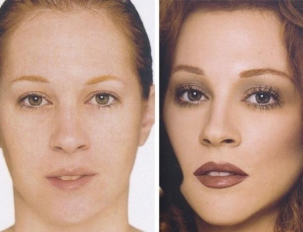 Para as ruivas que desejam eliminar as sardinhas e engrossar a sobrancelha, o maquiador mostra a tranformação