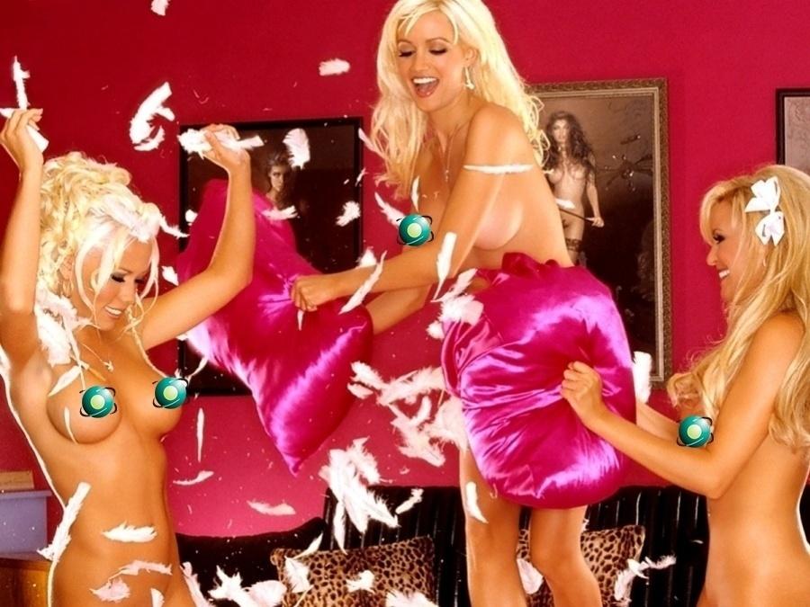 Set.2013 - Um trio de loiras poderosas fez sucesso na versão norte-americana da revista Playboy, e as três já caíram nas graças de Hefner. Kendra Wilkinson, Holly Madison e Bridget Marquardt namoraram o chefão da revista masculina, Hugh Hefner, antes do ensaio que mexeu com o público masculino