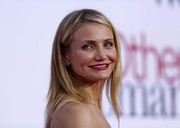 "21.abr.2014 - Cameron Diaz posa durante première do filme ""The Other Woman"", em Los Angeles, nos Estados Unidos"