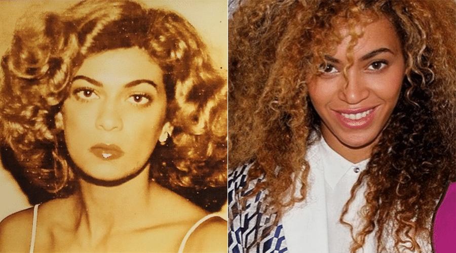"""12.mai.2014 - Beyoncé aproveitou o Dia das Mães para homenagear Tina Knowles. A cantora postou uma imagem antiga da mãe com a legenda: """"Feliz dia das mães pra mulher que luta todos os dias por uma vida segura e por um ambiente seguro para os seus filhos. Nós a honramos"""", escreveu na legenda. No entanto, o que deixou os fãs impressionados foi a semelhança física entre Beyoncé e a sogra de Jay-Z. """"Você parece demais com a sua mãe"""", disse uma fã. """"Idênticas"""", afirmou outra"""