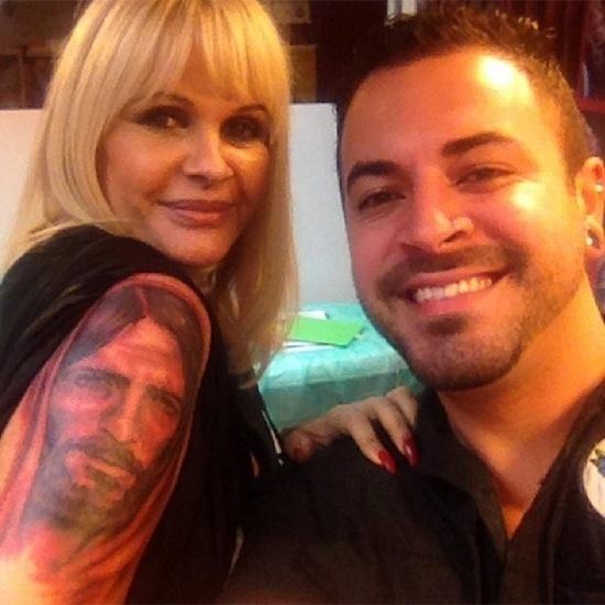 13.mai.2014 - Monique Evans mostrou aos seguidores do Instagram sua nova tatuagem:
